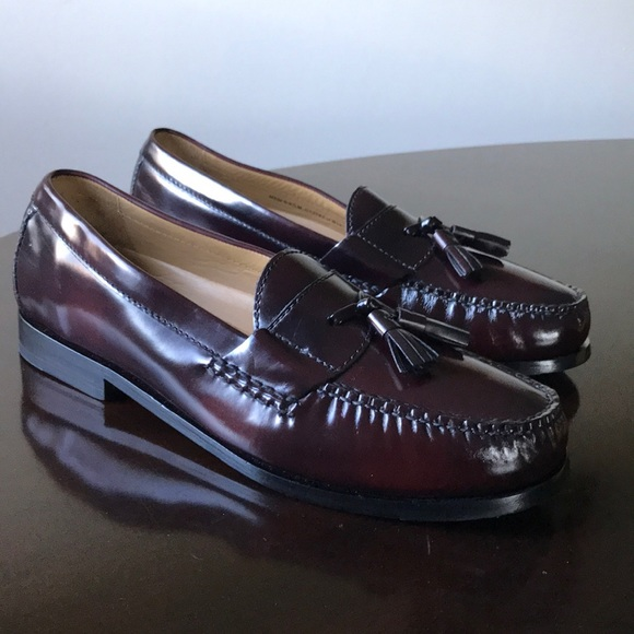 1d5254c3043 Cole pinch hand sewn burgundy 9.5M tassel Loafers